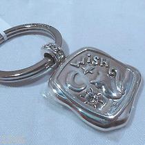 Nwt Brighton Kitty Dreams Silver Plated Swarovski Key Fob Chain Ring E15250 Photo