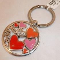 Nwt Brighton Lotta Love Silver Plated Key Fob Chain Ring E15120 Photo