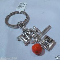 Nwt Brighton Love 2 Teach Teacher Silver Plated Key Fob Chain Ring E15180 Photo