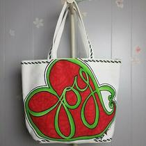 Nwt Brighton Love & Joy Large Canvas Tote Great Size and Colors Photo