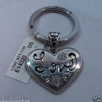 Nwt Brighton Love Silver Plated Key Fob Chain Ring E14320 Photo