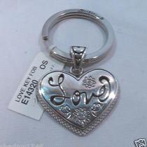 Nwt Brighton Love Silver Plated Key Fob Chain Ring E14320 Photo