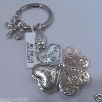 Nwt Brighton Lucky Clover Silver Plated Key Fob Chain Ring E11042 Photo