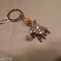 Nwt Brighton Lucky Safari Elephant Silver Plated Key Chain Ring Fob E13850 Photo
