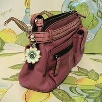 Nwt Brighton Marvels Pop Garden Pink Leather Crossbody Organizer Handbag Photo