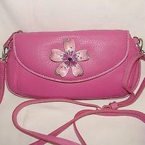 Nwt Brighton Marvels Wallet Pouch Pink Leather Shoulder Bag Purse  Photo
