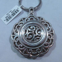 Nwt Brighton Moonflower Silver Plated Photo Key Fob Chain Ring E15160 Photo