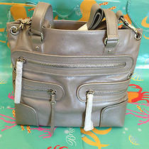 Nwt Brighton Morrison Crossbody Messenger Tote Sterling Silver Organizer Handbag Photo
