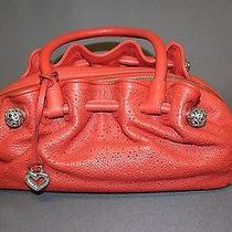Nwt Brighton Red Zip Top Hobo Purse Handbag Photo