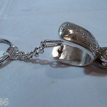 Nwt Brighton Silver Spur Silver Plated Key Fob Chain Ring E08650 Photo