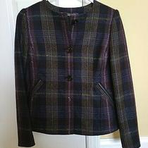 Nwt Brooks Brothers Blue/purple/green Wool Plaid Blazer Size 4 Photo