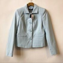 Nwt Brooks Brothers Light Pastel Blue Textured Career Blazer Women's Size 2 Xs  Photo