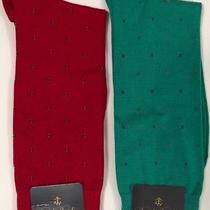 Nwt Brooks Brothers Mens Set of 2 Pair English Dress Socks Red/emerald 7.5-12 Photo