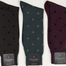 Nwt Brooks Brothers Mens Set of 4 Pair Japanese Polka Dot Dress Socks One Size Photo