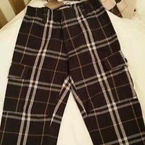 Nwt Burberry Boys Classic Gray Nova Check Plaid Pants Trousers Banded Cuff 3y Photo