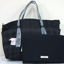 Nwt Burberry Graceford Beat Check Baby Diaper Tote Bag Msrp 950 Photo