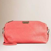Nwt Burberry Heritage Grain Soft Small Chichester Clutch Rose Pink Photo