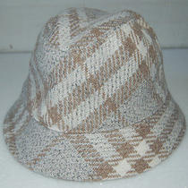 Nwt Burberry London Bucket Wool Tweed Hat Dove Beige Nova Check  250 Photo