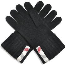 Nwt Burberry Men's 165 100% Cashmere Black Nova Check Mittens Gloves Photo