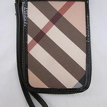 Nwt Burberry Nova Check Iphone Wallet 295 Black Photo