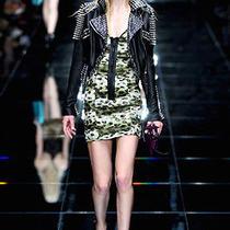 Nwt Burberry Prorsum Runway Womens 2795 Silk and Leather Dress Sz Us 8 Eu 42 Photo