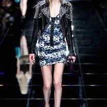 Nwt Burberry Prorsum Runway Womens 2795 Silk and Leather Dress Sz Us 6 Eu 40 Photo