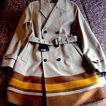 Nwt Burberry Prorsum Tan Water-Resistant Trench/overcoat College Coat Eu Sz 48 Photo