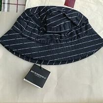 Nwt Burberry Size S Navy All Over Bucket Hat Photo