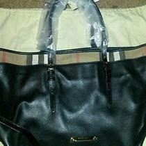 Nwt Burberry Tote - Black Bridel House Check Salisbury Photo