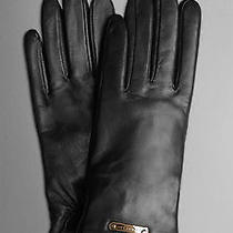 Nwt Burberry Women's 375 Jenny Lambskin Leather Touch Screen Texting Gloves 7.5 Photo