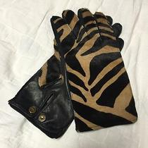 Nwt Burberry Women's Kidskin Gloves Size 7.5 -Made in Italy- Msrp 695.00 Photo