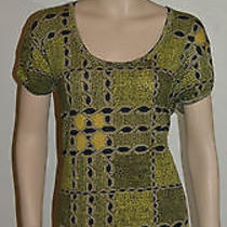 Nwt Burberry Womens Chrome Yellow Cotton Shirt Blouse Sz Xl Photo