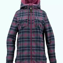 Nwt Burton Women's Cleo Reversible Flannel Softshell Jacket Tart Medium Photo