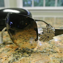 Nwt Bvlgari Sunglasses 6064-B 102/13 Brown Pale Silver Removable Brooch   Photo