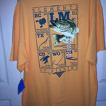 Nwt  by Columbia Pfg  Fabulous Orange Short Sleeve Elements of Fishing Xl Photo