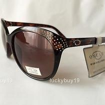 Nwt by Oscar De La Renta 1219 Brown 100% Authentic  Sunglasses Women /246/  New  Photo