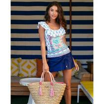 Nwt Cabana Life Summer Bloom Ruffle Tankini Top Multicolored Size Large Photo
