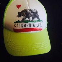 Nwt California Love Bear Hat Billabong Trucker Snapback Adjustable Fast Ship Photo