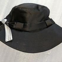 Nwt Calvin Klein Black White Satin Water Repellent Hat W/ Adjustable Strap S/m Photo