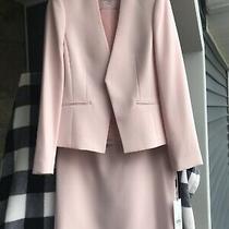 Nwt Calvin Klein Blush 2 Piece Suit Blazer Jacket Set Size 8 New Photo