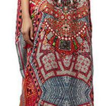 Nwt Camilla Franks Fabric of My Forebears Embellished Round Neck Silk Kaftan  Photo
