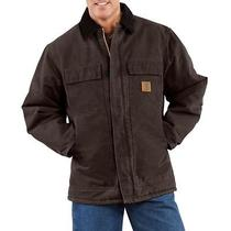 Nwt Carhartt Men Quilt Lined Sandstone Coat (Has Name on It) C26 Size M Fr Ship Photo