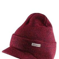 Nwt Carhartt Winter Knit Hat With Visor Beanie Brim Ofa Red Navy Specks Photo