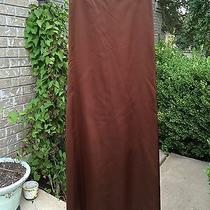 Nwt Carmen Marc Valvo Collection Brown W/flare Tail Skirt  Size 4  Orig 390 Photo