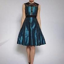 Nwt Carmen Marc Valvo Sleeveless Taffeta Party Dress Size 6 Photo