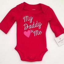 Nwt Carter's Bodysuit Newborn Baby My Daddy Hearts Me Photo