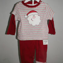 Nwt Carter's Holiday Red/green Santa Outfit Sz 0-3m Photo