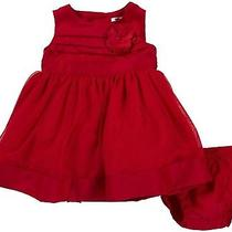 Nwt Carter's Infant Girls Red Sateen Dress With Diaper Cover  3m Photo