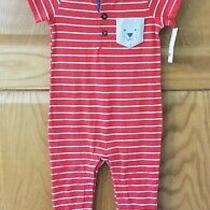 Nwt Carter's Short Sleeve Romper 12mos Photo