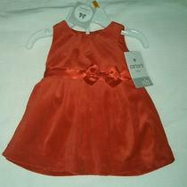 Nwt Carter's Size Newborn Red Velvet Dress With Diaper Cover New Photo